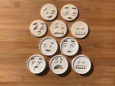 5pcs Plastic Emoji Biscuit Cookie Cutter Fondant Cake Decorating Mold 6 Cm