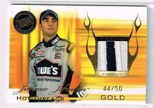 2004 PRESS PASS PREMIUM JIMMIE JOHNSON LOWES 2CLR RU FIRESUIT PATCH CARD#HTD1/50