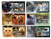 DOMESTIC CATS CAT 10 SOUVENIR SHEETS MNH IMPERFORATED part 2