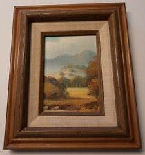 DEWEY BRADFORD Original Painting SIGNED Listed Texas Artist Plein Air Landscape