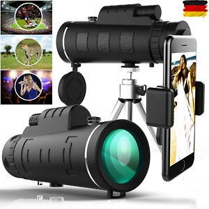 50X60 HD Fernrohr Teleskop Monokular Feldstecher Zoom Objektiv mit Handy Stativ