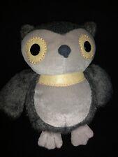 "10"" Kohls Cares Kids Owl Aesops Fables Book Stuffed Plush Stuffed Animal Grey TA"