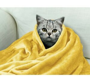 Luxury Soft Fleece Throw Blanket, Microfiber Blankets for Sofa, Couch, Travel, B