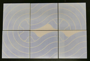Vintage  Modern Tile Set Abstract Mid Century