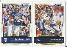 2016 Panini Score Football Denver Broncos Team Set 15 Cards W/Rookies Lynch