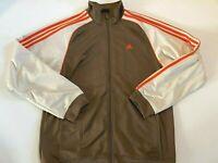 Adidas Full Zip Fleece Lined Retro Colors Track Jacket Men's Size Large