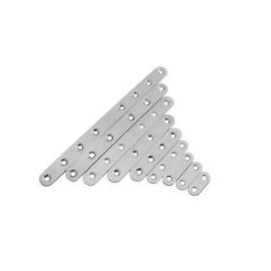 Repair Plate Flat Straight Fixing Mending Corner Brace Bracket Stainless Steel
