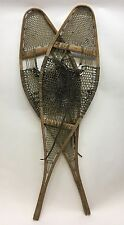Great Vintage SNOWSHOES w/ Leather BINDINGS Snow Shoes