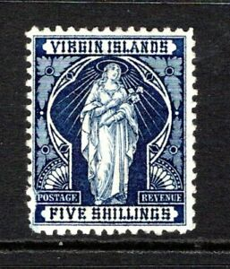 British Virgin Islands 1899  5s. Indigo SG50 LM/Mint
