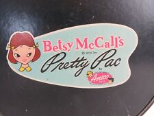 Vintage Betsy McCall's Pretty Pac Plaid Doll Bag Case Round Amsco Toys #0661
