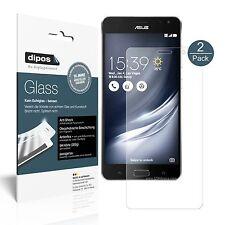2x Asus ZenFone AR Schutzfolie matt - Folie Glasfolie 9H dipos Glass
