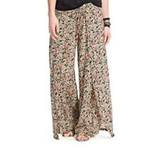 Denim & Supply RL Women's Size M Black Floral Smocked Faux Wrap Gaucho Pants