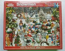 White Mountain Snowmen Jigsaw Puzzle 1,000 piece Holiday Christmas Puzzle
