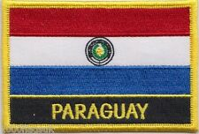 Paraguay Flag Embroidered Patch Badge - Sew or Iron on