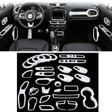 Full Set Interior Accessories Decoration Trim Extension Kit For Jeep Renegade #B