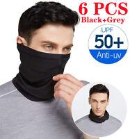 LOT 6PCS UV Protection Bandana Neck Gaiter Face Cover Scarf Balaclava Fishing