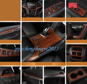 Peach Wood Grain Car Interior Kit Cover Trim For Cadillac XT5 2016-2019