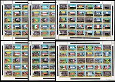 PANAMA  Mi 1335-1427 Flags Bolivar OLYMPICS MOSCOW 1980 FULL SET OF 6 SHEETS OVP