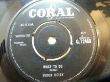 """Buddy Holly – What To Do 1963 7"""" Coral Q 72469"""