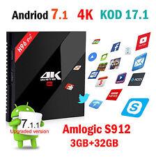 Andriod 7.1 Amlogic S912 H96pro+ 3G+32G Smart TV Box KOD17.1 4K 5.8G WIFI BT4.1