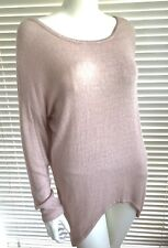 FABULOUS ladies lagenlook soft knit button back jumper