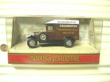 Matchbox Yesteryear Y19 1929 Morris Van Sainsbury Silver 12SpokeWhls 1Hole Base