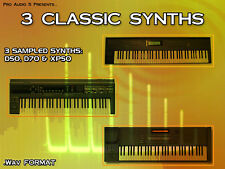 3 CLASSIC SYNTHS! D50, D70, XP50 DVD - Pads Synths Leads FX BASS 3000+ Samples