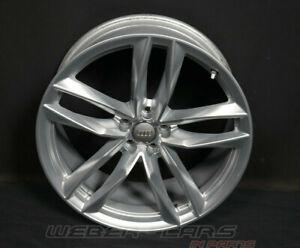 4G0601025CE 1H7 Silver Audi RS6 4G 21 Inch Aluminium Rim Wheel 9.5J X 21 ET25