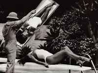 1980 Vintage RAQUEL WELCH Movie Actress Tanning By HELMUT NEWTON Photo Art 11X14