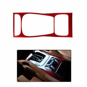 Vehicle Gear Shift Panel Carbon Fiber Sticker Decal Trim For Porsche Cayenne Red
