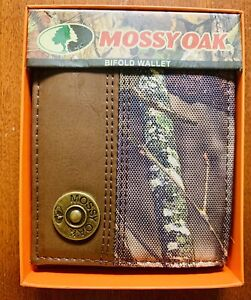 Mossy Oak Camo Wallet W/ Shotgun Shell - NWT Mens Bi-fold ID CC Bill Holder