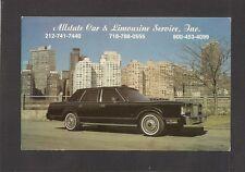 ADVERTISING POSTCARD:  ALLSTATE CAR & LIMOUSINE SERVICE, INC. - NEW YORK CITY