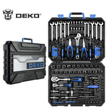 DEKOPRO 118 Pcs Tool Kit Auto Repair Tool Kit Set Combination Package