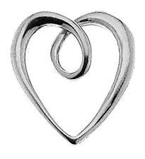 1 bouclés Curvy Argent Sterling Charme Pendentif Coeur Ouvert, 11,5 mm