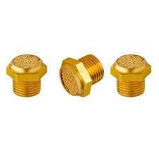 Quickun Pneumatic Muffler Silencer, 1/8� Male Thread Brass Air Exhaust Muffler 3