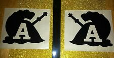 Throwback Army Black Knights Football Helmet Decals Full size