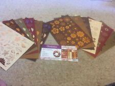 Hunkydory - Autumn - Falling Flowers Embellishments Kit - 12 Sheets - 300gsm - 2