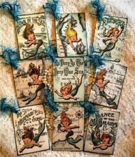 Set of 9  Hang Tags~Mermaid Girls~Scrapbook~Card~Embellishments~Gift Tags~#157