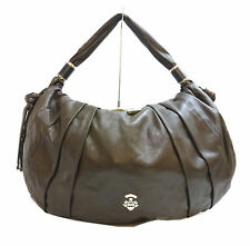 Authentic Barry Lambskin shoulder bag Brown Leather #0567