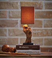 Stehlampe Tischlampe Treibholz Lampe NATURE, Höhe ca. 48 cm, GI Design, NEU