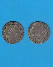 Louis XIII ( 1610-1643 ) Demi-Franc tête laurée au col fraisé 1615 Saint-Lô