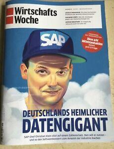 Wirtschaftswoche WiWo aktuelle Ausgabe 18 SAP 30.04.2021