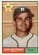 1961 Topps 29 Don Nottebart NM #D325477