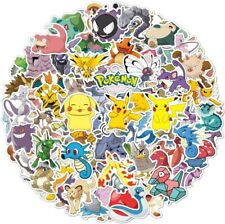 100 Pokemon Sticker Pikachu Vinyl Graffiti Decals Laptop Waterbottle Skate
