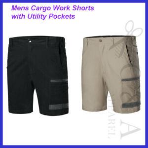 Bocini Mens Modern Fit Cargo Work Shorts W/ Utility Pockets Casual Workwear New
