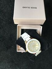 BNWT White diamante round face watch River Island