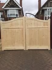 wooden driveway gates 6ft h x 11 ft w elite swan neck gates