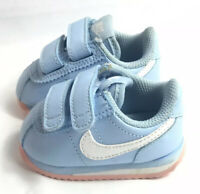Rare Nike Cortez Baby Blue And Pink Leather Toddler Shoes Size 2 Infant