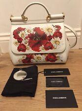 Dolce&Gabbana Miss Sicily Poppy and Daisy Print Satchel Shoulder Bag £1500