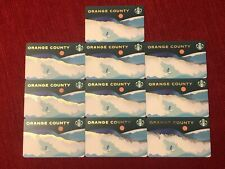 10 NEW STARBUCKS ORANGE COUNTY 2020 SURFER CITY GIFT CARD LOT